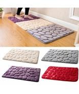 Pebble Flannel Non Slip Rug Foam Pad Mat Floor 40*60cm Carpet Home Garde... - $6.92