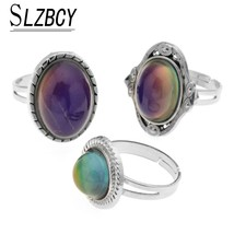 SLZBCY 3pcs/set Women Mood Rings Temperature Change Colorful Color Emoti... - $10.12