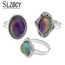 SLZBCY 3pcs/set Women Mood Rings Temperature Change Colorful Color Emotion Feeli - $10.12