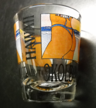 Hawaii Bottom's Up Shot Glass Panels of Girls in Skimpy Thongs on Clear ... - $6.99