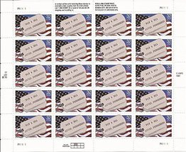 1995 Pows and Mias - Sheet of Twenty 32 Cent Stamps Scott 2966 by USPS - $12.00