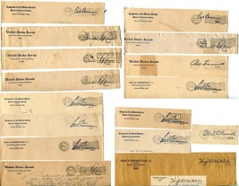 USA Senate House of Representatives Free Postage Cover Envelope Cuts Was... - $32.40