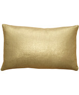 Pillow Decor - Tuscany Linen Gold Metallic 12x20 Throw Pillow - $35.95