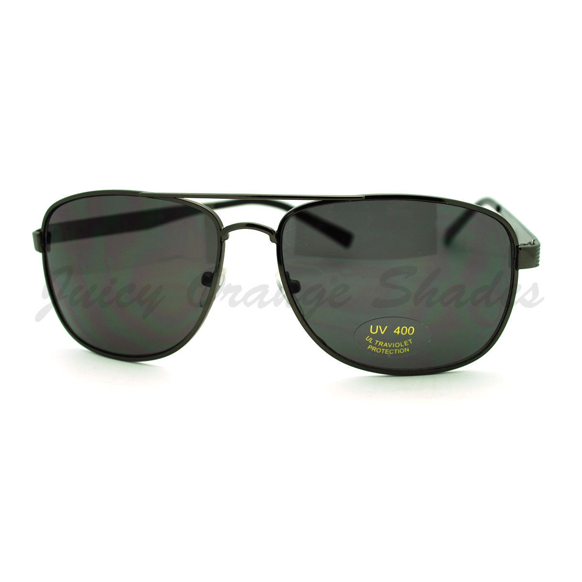 Navigator Sunglasses Square Aviator Flat Top Metal Frame