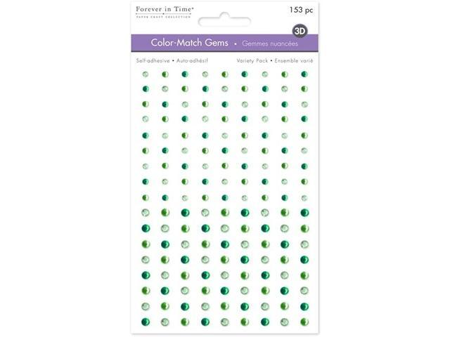 Forever in Time Self Sticking Rhinestone Stickers, Green