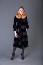 Luxury gift/Beaver fur Coat/Red Fox Collar/Fur jacket full skin / Weddin... - $1,250.00