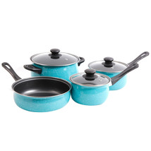 Gibson Home Casselman 7 piece Cookware Set in Turquoise - $77.41