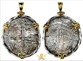 ATOCHA SHIPWRECK 1622 BOLIVIA 8 REALES PIRATE COINS SHIPWRECK JEWELRY PE... - $1,995.00