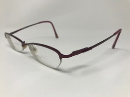 "BEBE ""Prime"" Eyeglasses Frame Half Rimless 52-18-140 Berry Matte Dark Pi... - $39.18"