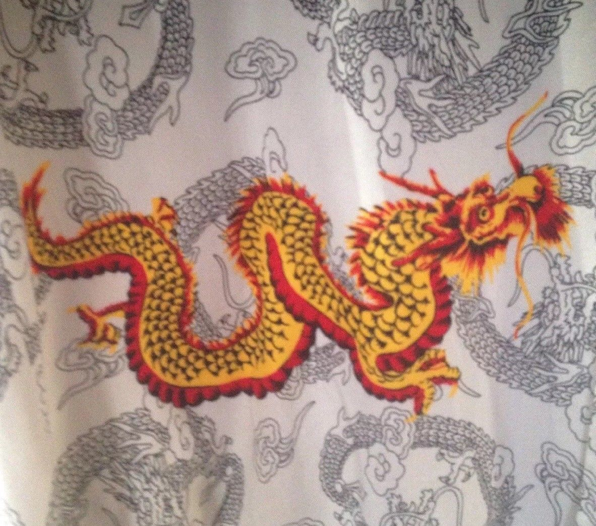 VINTAGE 90's GUESS Jeans Mens Dragon Flames Oversized Relaxed Sz Large