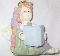 NEW Raggedee Deez Ceramic Ornament Angle Cherub Reading Bible Book Figur... - $8.30