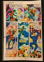 Iron Man #114 1978 Marvel original color guide art Avengers Vision Beast Battle - $69.76