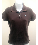 Abercrombie & Fitch Girls L Polo Shirt Brown Top School - $9.78