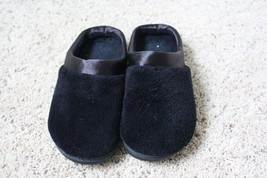 Black Microterry Pillowstep Isotoner  Size 7.5-8 Slip-On Slippers - £23.81 GBP