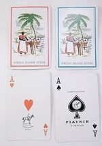 Piatnik Double Deck Playing Cards Virgin  Islands Souvenir  Palm Trees Burro - $18.80