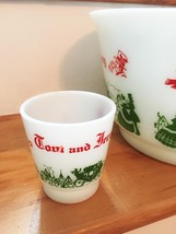 Vintage 50s Hazel Atlas Tom & Jerry/Eggnog Punchbowl Set image 3