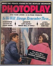 ORIGINAL Vintage December 1964 Photoplay Magazine Jackie Kennedy JFK - $24.74