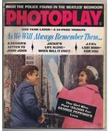 ORIGINAL Vintage December 1964 Photoplay Magazine Jackie Kennedy JFK - $24.74