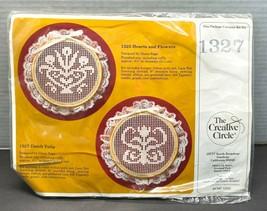 1985 Creative Circle Stitch Kit 1327 Dutch Tulip Lace Darning by Diane Sage - $11.95