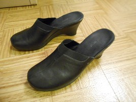 women's clogs Nine West black clogs O-Flanwm LZC 8M - $18.95