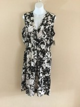 NEW Womens ANNE KLEIN Black White Floral   Wear to Work Sleeveless Dres... - $38.51