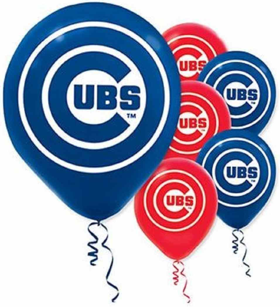 Primary image for Chicago Cubs MLB Pro Baseball Sports Birthday Party Decoration Latex Balloons