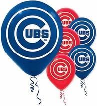 Chicago Cubs MLB Pro Baseball Sports Birthday Party Decoration Latex Bal... - $6.17