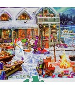 Buffalo Games Winterland Fun  Large Format 300 Pcs Puzzle Complete - $7.32