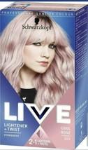 2 x Schwarzkopf LIVE Pastel Hair Dye COOL ROSE PINK Permanent Colour + L... - $25.45