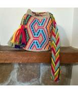 Authentic 100% Wayuu Mochila Colombian Bag Large Size Exclusive black l... - £72.67 GBP