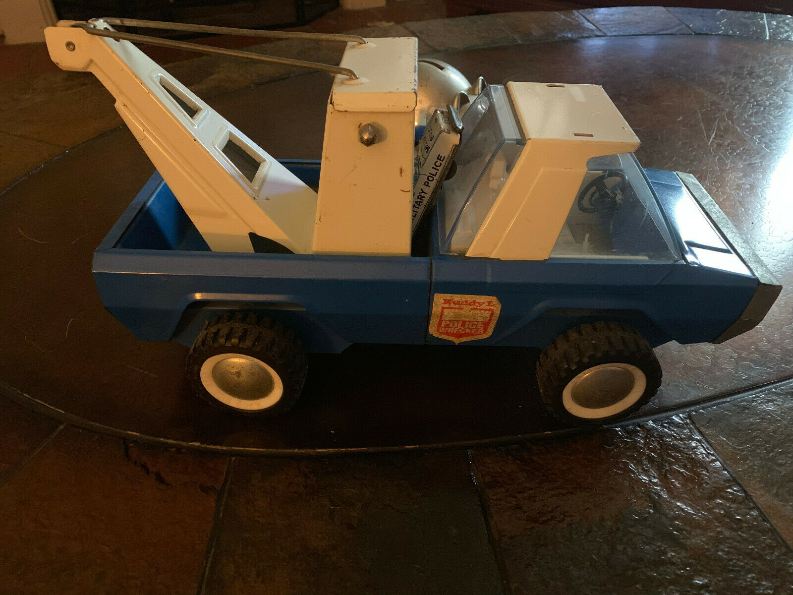 Buddy L Steerable Police Wrecker Tow Truck 1969
