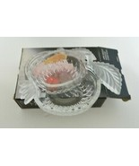 Studio Nova Apple Delight Candy Bowl Clear Frosted Leaves In Box Japan - $12.75