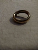 """1""""VINTAGE PALE GOLDTONE RUSTIC OPEN CIRCLE SCARF PIN BROOCH,UNSIGNED,.25... - $5.93"""