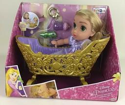 "Disney Princess Royal Baby Rapunzel Cradle 10"" Doll Jakks Toys R Us Excl... - $197.95"