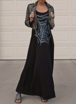 Maxi dress w/spiderweb print by Lauren Moshi (tencel/cotton), black colo... - £38.46 GBP