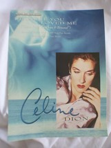 Because You Loved Me Celine Dion Original Sheet Music Edition Up Close P... - $9.68