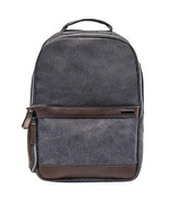 Renwick Canvas Backpack with Genuine Leather Trim, Gray Model: A2355 RW - $39.11