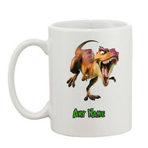 Personalised Dinosaur 10oz Mug - Your Name Or Wording - Perfect Gift - $8.93