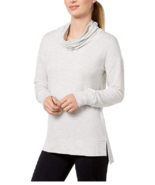 Ideology Cowl-Neck Top, White Gray heather, Size XL, MSRP $44 - $19.62