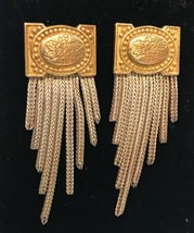 FINE VINTAGE ANATOLI Sterling Silver and Gold Vermeil Fringe Earrings - ... - $74.25