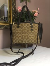 Coach Stanton 26 Carryall Satchel Brown Bag Crossbody Jacquard Leather 3... - $96.30