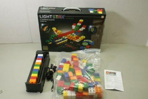 Light Stax Junior Classic Illuminated Blocks Mega Set, 102 Pieces Building Block