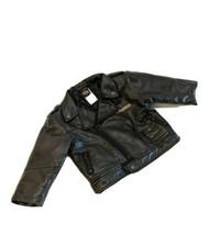 Black Faux Leather Toddlers 18 Mo Genuine HARLEY DAVIDSON Moto Jacket  - $34.82