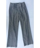 Sz 4 Banana Republic Harrison Tweed Pants Wool Blend Stretch Gray Italy ... - $26.31