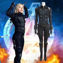 Black Widow Complete Costume Full Set Cosplay 2018 Avengers 3 Infinity War - $212.79