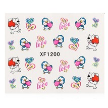 10pcs Flower Nail Decals Art Water Transfer Stickers(#1) - $7.25