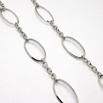 Necklace Silver 925, Onyx Black Wavy, Length 115 cm, Chain Oval image 5