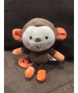 Fisher Price Snugamonkey Monkey Plush Baby Toy Brown ORANGE #95779 P75 - $21.46