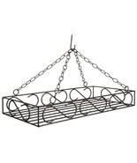 LARGE WROUGHT IRON POT & PAN SCROLL RACK ~ Hanging Holder with 8 Forged S Hooks - $137.17