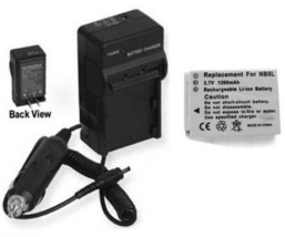 Battery + Charger for Canon SD850IS SD870IS SD880 SD890 - $22.49